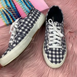 Superga checkered low top sneaker size 39
